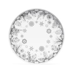Блюдо «Время предвкушения. Снежинки. Платина» в подарочной коробке, белое / черное фото