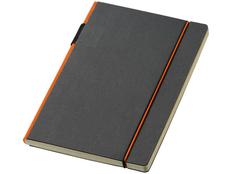 Блокнот в линейку на резинке Journalbooks Cuppia А5, 160 стр., черный/ оранжевый фото