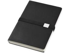 Блокнот в линейку на резинке Journalbooks Doppio А5, 128 листов, черный фото
