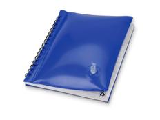 Блокнот в линейку на пружине Малокен А5, надувная обложка, 70 листов, синий фото