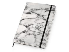 Блокнот в линейку на резинке Lettertone Socrates А5, 208 стр., белый/ черный фото
