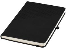 Блокнот в линейку на резинке Marksman Theta А5, 80 листов, черный фото