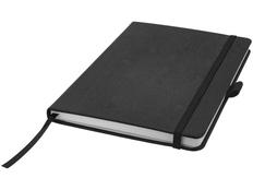 Блокнот в линейку на резинке Journalbooks Wood-look А5, 80 листов, черный фото
