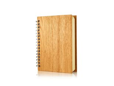 Блокнот нелинованный на пружине booratino А6, дуб, 80 листов, древесный фото
