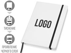 Блокнот в линейку на резинке Lettertone Secret А6, 80 листов, белый/ черный фото