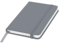 Блокнот в линейку на резинке Spectrum А6, 96 листов, серый фото