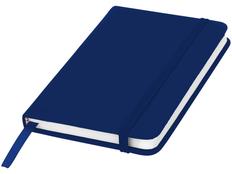 Блокнот в линейку на резинке Spectrum А6, 96 листов, синий фото