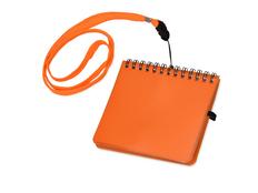 Блокнот А6 Журналист с петлей для ручки, оранжевый фото