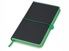 Блокнот в линейку на резинке Lettertone Color Rim А5, 80 листов, черный/ лайм фото