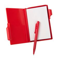 Блокнот для записей с авторучкой A6, 60 листов, красный фото