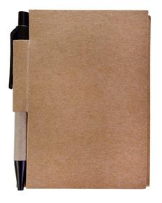 Блокнот с авторучкой Eco light, 80 листов, крафт фото