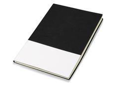 Блокнот в линейку Lettertone Fusion А5+, 80 листов, черный/ белый фото