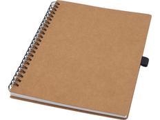 Блокнот из переработанного картона Cobble A5, коричневый фото
