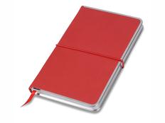 Блокнот в линейку на резинке Lettertone Silver Rim А5, 96 листов, красный фото