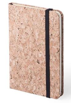Блокнот из натуральной пробки Climer, коричневый/ черный фото