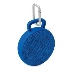 Колонка беспроводная Bluetooth, текстиль, синяя фото