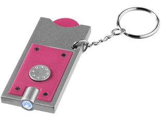 Брелок - фонарик и держатель для монет Allegro, розовый фото
