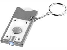 Брелок - фонарик и держатель для монет Allegro, белый фото