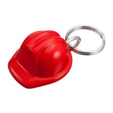 Брелок в виде каски Helmet, красный фото