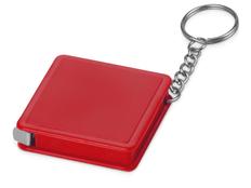 Брелок - рулетка квадратный Дюйм, красный фото