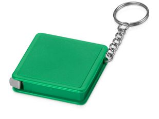 Брелок - рулетка квадратный Дюйм, зеленый фото