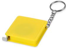 Брелок - рулетка квадратный Дюйм, желтый фото