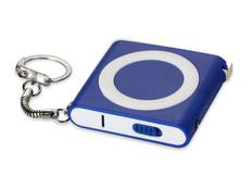 Брелок-рулетка с фонариком Книга, 1м, синяя фото