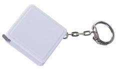 Брелок - рулетка квадратный, белый фото