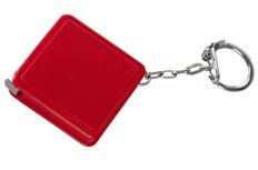 Брелок с рулеткой Square, красный фото