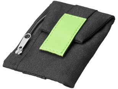 Бумажник Keeper для ношения на обуви, чёрно-зелёный фото