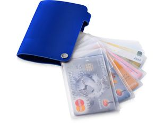 Бумажник Valencia, синий фото