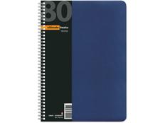 Бизнес-блокнот А4 Офис-Лайн, вертикальная пружина, синий фото