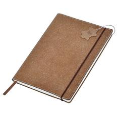 Бизнес-блокнот в клетку на резинке thINKme Indi А5, 160 стр., кожа, коричневый фото