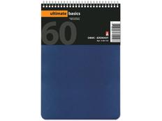 Бизнес-блокнот А5 Офис-Лайн, горизонтальная пружина, синий фото