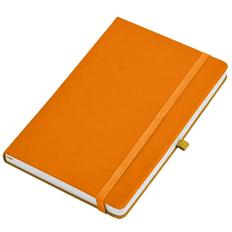 Бизнес-блокнот в клетку на резинке thINKme Silky А5, 256 стр., оранжевый фото