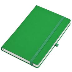 Бизнес-блокнот в клетку на резинке thINKme Silky А5, 256 стр., зеленый фото