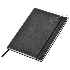 Бизнес-блокнот в клетку на резинке thINKme Indi А6, 160 стр., кожа, серый фото