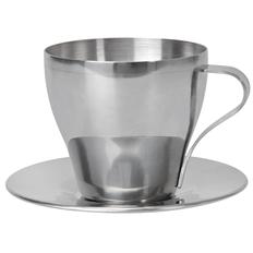 Чайная пара, 220 мл, металл, серый фото