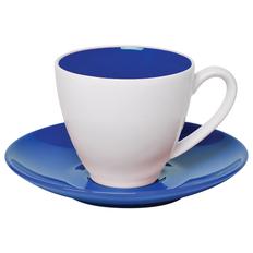 Чайная пара Galena, синяя/ белая фото