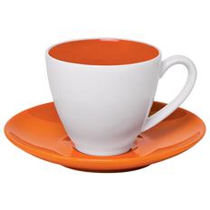 Чайная пара Galena в подарочной упаковке, оранжевый, 200 мл фото