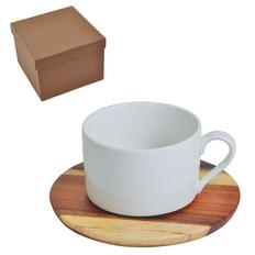 Чайная пара Helga в подарочной упаковке, белый, коричневый фото