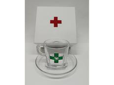 Чайная пара подарочная Аптечная феерия, прозрачная / зелёная фото