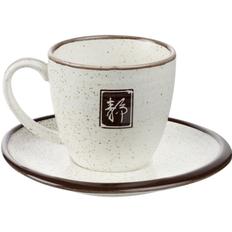 Чайная пара «Путь решения», белая / коричневая фото