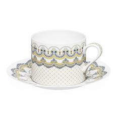 Чайная пара «Русские сезоны» 250 мл в подарочной коробке, белая / синяя / золотая фото