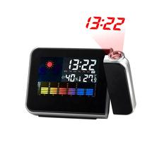 Часы-метеостанция Jettix с проективным циферблатом, черная фото