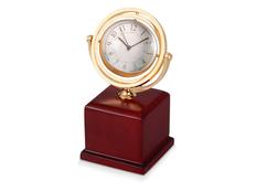 Часы Disk, золотой, коричневый фото