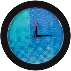 Часы настенные Big Data, черные / синие фото