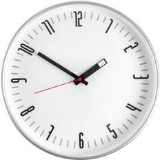 Часы настенные ChronoTop, белые, с красной секундной стрелкой фото