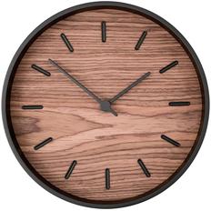 Часы настенные деревянные Tiger, черные / крафт фото