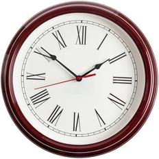 Часы настенные Flat Circle, бордовые фото